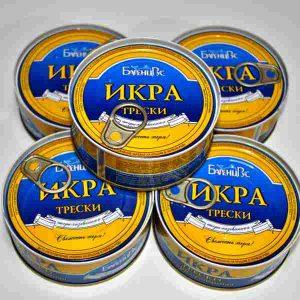 Икра трески пастеризованная (Мурманск)